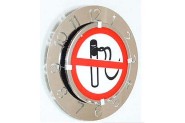 speed light electronic time clocks with stop smoking signs for