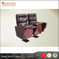 Factory direct sale pu leather with pad auditorium chair