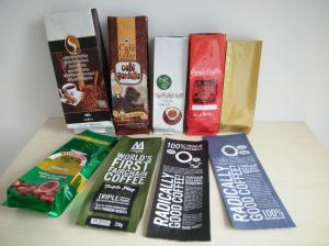 Aluminum Foil Coffee Bag With Valve / Coffee Beans Plastic Pouches Packaging 250g 500g 1000g