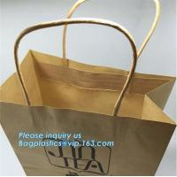 Custom Luxury ribbon satin finish paper carrier bags with rope handles and ribbon bow fastener,Brand Lager Paper Carrier
