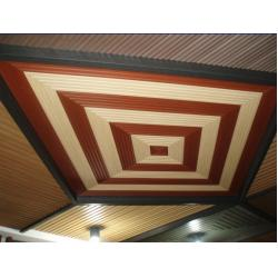 China Recyclable Wood Plastic Composite Ceiling WPC Platfond Environmentally on sale