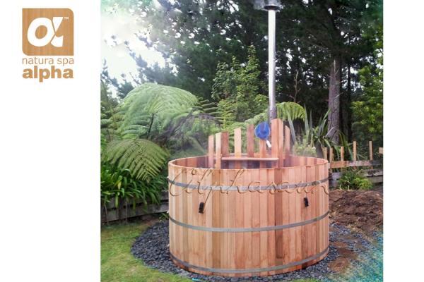borrachn al aire libre redondo de madera de la tina de jacuzzi de la tina caliente del barril del cedro del patio trasero del balneario