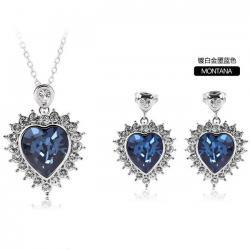 China Heart Jewelry set made with Swarovski elements TJ0081 on sale