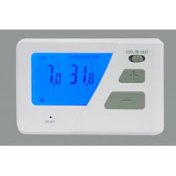 China Wall Mount Digital Room Thermostat With 2 X AAA 1.5V Lithium Batteries , 118 X 80 X 26 mm on sale