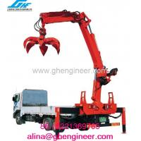 Truck Mounted Crane with Grab For Timber/ bricks/blocks