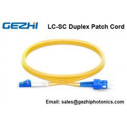 China Fiber Optical Patch Cord OS2 9/125 SM Duplex FTTH Jumper Cord on sale