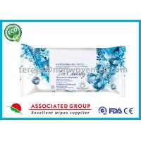 Lemon Scented Antibacterial Wet Wipes , Refreshing Facial Wipes For Sports