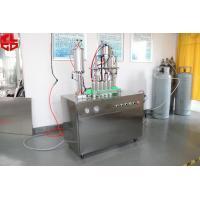 Semi Auto Aerosol Filling Equipment / Aerosol Can Filling System 316 Stainless Steel