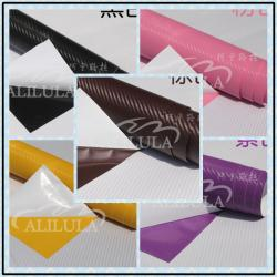 China 3D Black Carbon Fiber Vinyl Car Wrap Sheet Roll Film Sticker Decal Sales on sale
