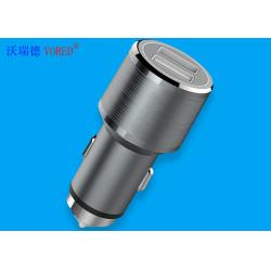 China Auto Metal Car Charger , 2.4A Current Range Tiny Dual Fast Charge Car Charger on sale