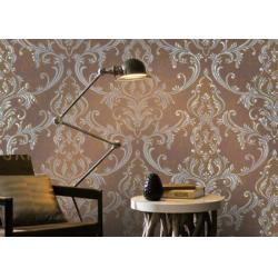 China Removable Home Decoration Wallpaper 1.06*10m / Country House Wallpaper Floral Pattern on sale