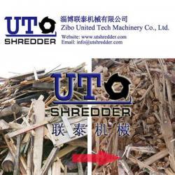 China United Tech Machinery Hot Sale wood pallet shredder machine/ wood furniture shredder/ double shaft shredder on sale
