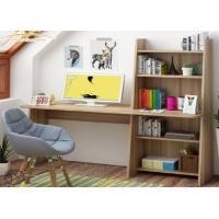 Simple modern computer desktop desk, home bedroom table, multi-function bookcase, learning desk book shelf combination.