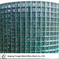 PVC Coated Welded Wire Mesh|Green Color With 1/4 inch by Carbon Steel Wire