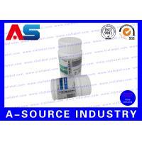 Winstrol 10 Pill Bottle Label Custom Design Adhesive Labels / Steriod Bottle Labeling For 50ml Jars