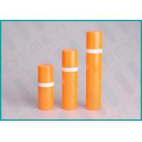 Orange PP Airless 15ml 50ml 30ml Pump Bottle Cylinder Shape For Cosmetics