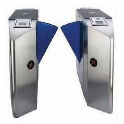 China TCP / IP Security & Electric Mechanism Single Wing Turnstile Gate with Rfid Card Reader on sale