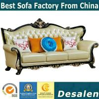 B02 wooden carved Luxury home furniture Royal genuine leather sofa set. 1+2+3 seater combination sectional sofa