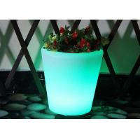 Colour Changing Plant Pots With Remote Control / Round Plastic Flower Pots Green Color