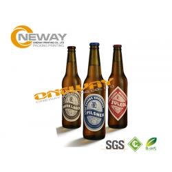 China Smooth Glossy Paper Beer Bottle Labels Anti - Oil Self Adhesive Label on sale