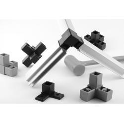 China Rectangle, square tube aluminium shelf brackets aluminum shelves for storage/ storage racks shelf on sale