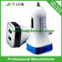 5V 2.1A Square LED car charger with electronic cigarette charger price