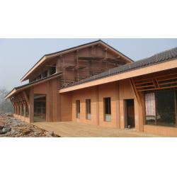 China Wood Plastic Composite Panel House Security Restroom and WPC Construction on sale