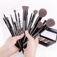 OEM professional 15 pcs synthetic high quality makeup brush set factory