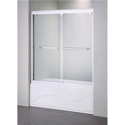 Double Sliding Shower Enclosure Shower Screen Over Bath Tub Yijie
