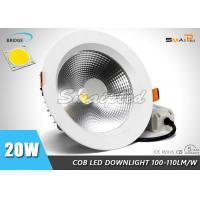 High Brightness 6 Inch Recessed Shower LED Downlight Fixtures 20 Watt