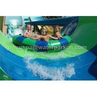 Fiberglass Rainbow Multi Water Slide Large Aqua Water World Customized Height
