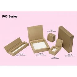China Folding Kraft Paper Jewelry Box, Jewelry Cardboard Boxes For Pandent / Necklace / Bracelet  Packaging on sale