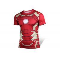 Iron Man Short Sleeve Rash Guard Shirts Customized Submission