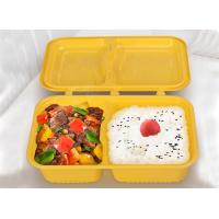 1000ml 2-compartment takeaway trays plastic food trays injection molding creative bento boxes with cover linked