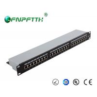Modular FTP 24 port cat6 patch panel wall mount with Fluke certificated
