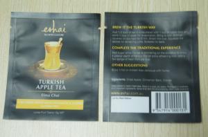 10g Small Packaging Tea Bags / Instant Matt Finish Tea Pouch In Black
