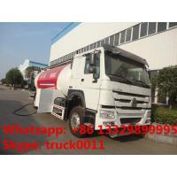 SINO TRUK HOWO brand propane gas dispensing truck for sale, 10metric tons cooking gas dispensing truck for retail