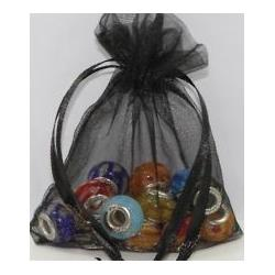 China Black Mini Jewelry Solid Color Mesh Gift Bags , Pretty Style on sale