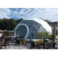 Geodesic PVC Heavy Duty Party Tent Steel Half Sphere Waterproof For Camping