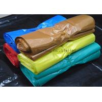 Recyclable Supermarket Custom Printed Plastic Shopping Bags With Handles Multi Color