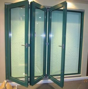 easy installation anodizing pvdf folding aluminum frame windows with float glass