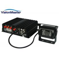 4 Audio Inputs 4 CH GPS Mobile DVR Video Recorder Dual SD Card For BUS / Taxi