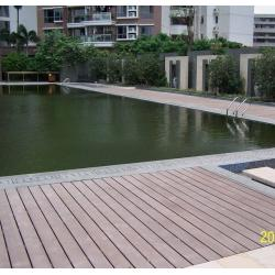 China Solid and Hollow WPC Decking Flooring for Pool and Seaside on sale