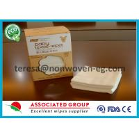 Non Woven Disposable Dry Wipes Unscented Highly Absorbent Airlaid White Color