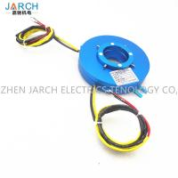 Electrical Platter Slip Ring Transmitting Rotary Electric Power Flat Type Hole Size 100mm