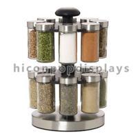 Custom Spinner Rack Display Stand Metal 2 Layer Black Jar Display Rack Rotating