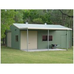 China Prefabricated Gable Steel Metal Car Sheds / Portable Garage For Car Parking on sale
