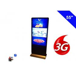 China Floor Standing Wireless Network 3G Digital Signage Indoor Display LCD 55 Inch on sale