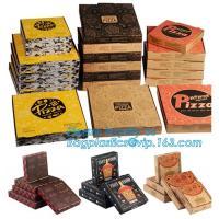 9 Inch Cheap Food Grade Customized Black Corrugated Paperboard Pizza Box,Printed Corrugated Cardboard Paper Pizza Box
