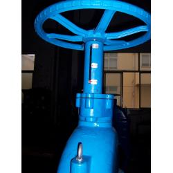 China Rubber Resilient Wedge Gate Valve F4 PN10 Flange Drilled Hand Wheel With Position Indicator on sale